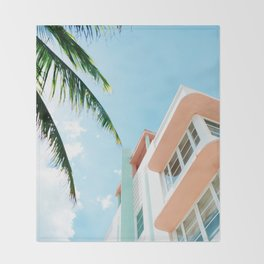 Miami Fresh Summer Day Throw Blanket
