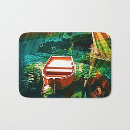 A Row Boat to Nowhere Bath Mat