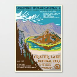 National Parks 2050: Crater Lake Canvas Print