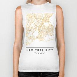NEW YORK CITY NEW YORK CITY STREET MAP ART Biker Tank