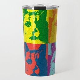 Pop Cat Travel Mug