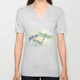 Xena's Dragonfly Unisex V-Neck