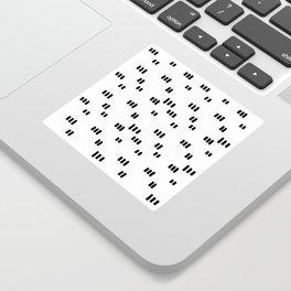 Line Dot Black Paint on Paper Sticker