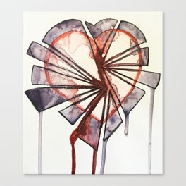 Shattered heart Canvas Print