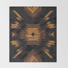 Urban Tribal Pattern No.7 - Aztec - Wood Throw Blanket