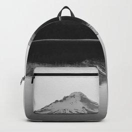 Wild Mountain Sunrise - Black and White Nature Photography Backpack