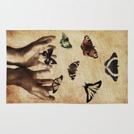 Butterflies Free Rug