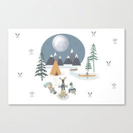 Camp Sleepy Moon (Large Print) Canvas Print
