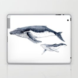 Humpback whale with calf Laptop & iPad Skin