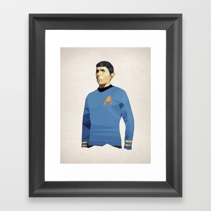 Polygon Heroes - Spock Framed Art Print