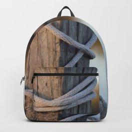 Rope On Post Sunset Backpack