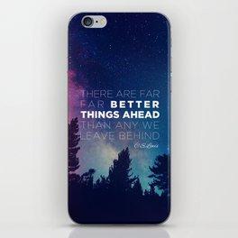 """CS Lewis """"Better Things Ahead"""" iPhone Skin"""