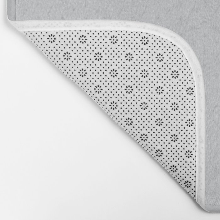 Claymore 7 Pattern - Light Grey Bath Mat