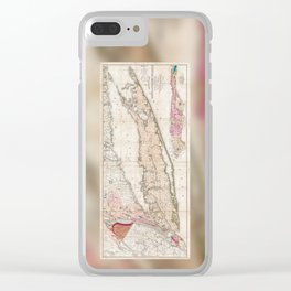 Long Island New York 1842 Mather Map Clear iPhone Case