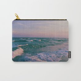 Sunset Crashing Waves Carry-All Pouch