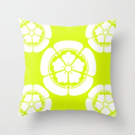 Samurai-Oda family Crest version2 Throw Pillow