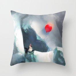 Heart Penguin Throw Pillow
