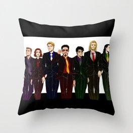Suitvengers Throw Pillow