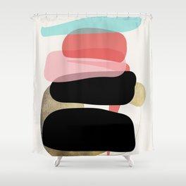 Modern Minimal Forms 1 Shower Curtain