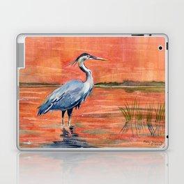 Great Blue Heron in Marsh Laptop & iPad Skin