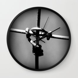 Barbed Wire Cross Wall Clock