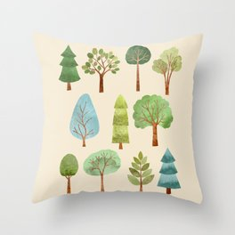 Peaceful Forest Throw Pillow