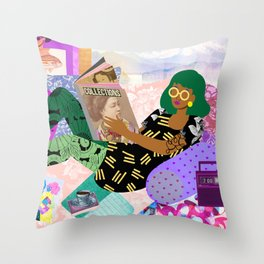 Lazy Sunday Throw Pillow