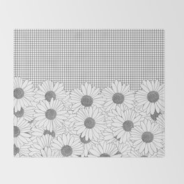 Daisy Grid Throw Blanket