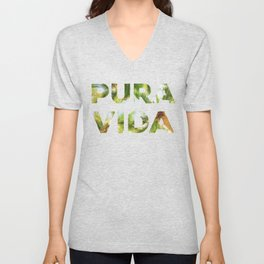 Pura Vida Costa Rica Palm Trees Unisex V-Neck