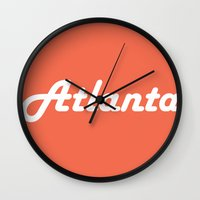 atlanta Wall Clocks featuring Atlanta by AE Interiors