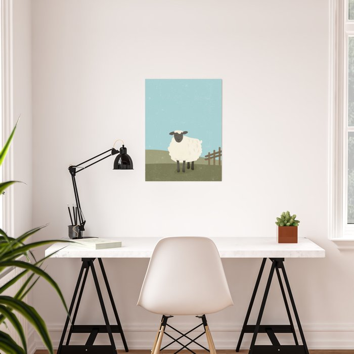S is for Sheep Poster
