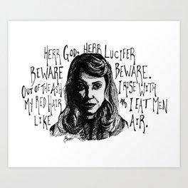 Lady Lazarus  Art Print