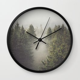 My misty way - Landscape and Nature Photography Wall Clock