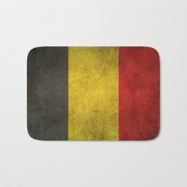 Old and Worn Distressed Vintage Flag of Belgium Bath Mat