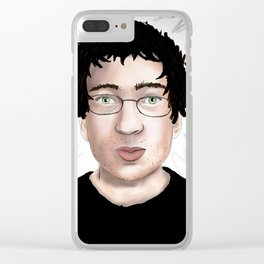 Green Eyed Guy Clear iPhone Case