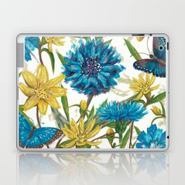 Seamless floral pattern with flowers and butterfly Laptop & iPad Skin