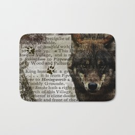 Wildlife Series The Gray Wolf By Moon Willow Designs Bath Mat