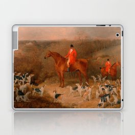 Hunting With Dogs and Horse Famous Oil Painting Laptop & iPad Skin