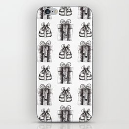 Black And White Christmas Objects Decor iPhone Skin