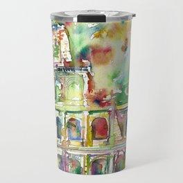 COLOSSEUM - watercolor painting Travel Mug