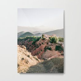 Travel photography Atlas Mountains Ourika   Colorful Marrakech Morocco photo Metal Print