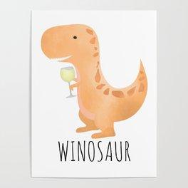 Winosaur | White Wine Poster