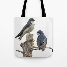 Tree Swallow Times Two Tote Bag