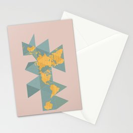 Dymaxion Map Stationery Cards