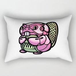 Pink Gorilla X Enfu Beaver Rectangular Pillow