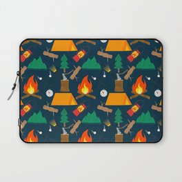 Let's Explore The Great Outdoors - Dark Blue Laptop Sleeve