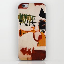 basquiat trumpet iPhone Skin