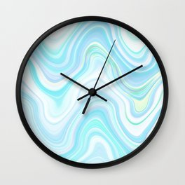 Cool Pastel Blue Lava Marble  #marble #society6 #abstractart Wall Clock