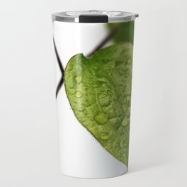 Raindrop Leaves Travel Mug