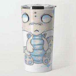 White Dragon Chibi Travel Mug